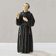 "3.5"" figure of St. Maximilian with prayer card.  Resin/Stone mix"