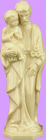 """St. Joseph with Child Statue is carefully crafted and molded in vinyl with an exclusive process for years of lasting use. 4"""" or 6"""" Sizes available."""