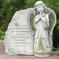 Celtic Angel Garden Stone, Irish Blessing