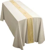Funeral Pall, Cream Fabric, Festive Gold Orphrey Design