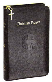 Christian Prayer is the official one-volume edition of the internationally acclaimed Liturgy of the Hours. This regular edition of Christian Prayer contains the complete texts of Morning and Evening Prayer for the entire year. With its readable 10-pt. type, ribbon markers for easy location of texts, and beautiful two-color printing, this handy little one-volume Christian Prayer simplifies praying the official Prayer of the Church, the Liturgy of the Hours, for today's busy Catholic. This bonded leather edition with zipper comes with a current annual guide. Dimensions: 4 3/8 x 6 3/4 ~ 2060 pages