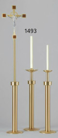 """45"""" Brass Finish Paschal Candlestick,  Sanctuary Appointment"""