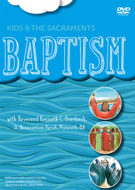 """Introduce your kids, your classroom to the Sacrament of Baptism with this lively new video presentation.  Explanations from Father Ken are combined with interviews with kids, on-screen storyboard Bible teaching, images from around the world, and an """"on the road"""" field trip to explore in depth the meaning of water and why it is used in Baptism.  Your class will enjoy paying attention to this way of instruction! 11 minutes. Reconciliation, Communion and Confirmation are also available!"""