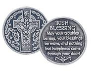 Celtic Cross with Irish Blessing Pocket Token