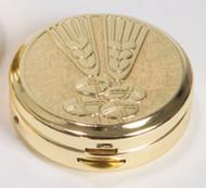 Pyx Gold Plated Satin Finish, 10 Host Capacity - K3250