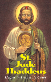 In desperate circumstances, the Faithful have always turned to the sure help of St. Jude Thaddeus - Apostle, cousin of Our Lord and martyr for the Catholic Faith. This powerful Saint is invoked in cases of extreme need, grievous illness, poverty, and when circumstances seem hopeless. Plus, he is a special defender of purity. St. Jude has obtained remedies and comfort for countless people who have turned to him in prayer. It explains his relationship to Our Lord and describes his preaching of the Gospel in Persia. There, along with St. Simon, he performed many miracles, defeated two magicians, converted thousands - including kings - and was martyred. Besides many interesting traditions about St. Jude, this booklet also contains the entire text of the Epistle of St. Jude with an explanation of this little-known New Testament book. Also includes famous, powerful prayers and novenas. Impr. 45 pgs ~ Softcover