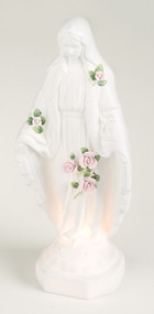 """12"""" """"Touch of Rose"""" Porcelain Bisque Lady of Grace Night Light with cord"""