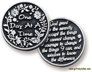 One Day at a Time Pocket Token and the Serenity Prayer