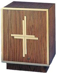 Oak Wood Tabernacle with Bronze Satin Trim