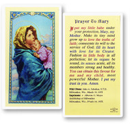 Prayer to Mary, Madonna of the Streets Laminated Holy Card