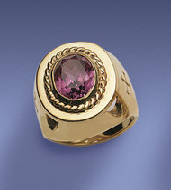 Sterling Gold Plate Bishop Ring