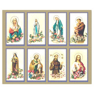 "The Bonella Line of prayer cards are imported from Milan, Italy.  A personalized prayer card is the perfect memento of your special occasion. Add your favorite prayer and message, and you will have a unique and treasured keepsake. Micro-Perforated. Sheet size is 8 1/2"" x 11"".  Card size is 2 1/2"" x 4 1/4"" each.  Must order in multiples of 8.  Price includes personalization. Full assorted color serenity prayer cards can be personalized and laminated."