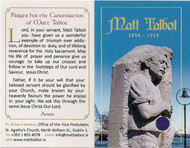 Matt Talbot, Venerable Saint of Alcoholism ~ Front and Back image of Card