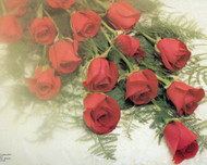 Wedding Panoramic Program Covers, Red Roses