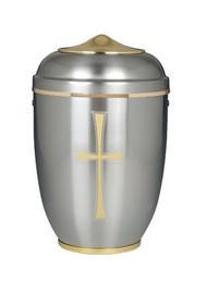 Silver Aluminum Urn - 122