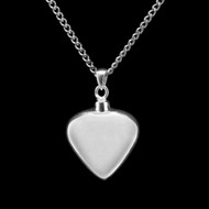 Memorial Sterling Silver Heart Necklace