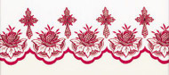 Embroidered Polyester Altar Cloth -  Available in Red, Green, Purple, Gold, White, and Blue. Please call for help with measuring and ordering