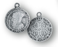 """3/4"""" Sterling Silver St. Benedict Medal with 18"""" Chain"""