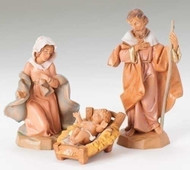 "3 piece set 5"" scale of  Classic Holy Family Figure Collection. Polymer. Gift Box.  You are able to choose future pieces from the wide selection Fontanini offers"