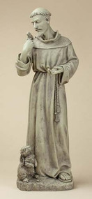 "24"" Saint Francis with Bunny Garden Statue. Resin/Stone Mix"