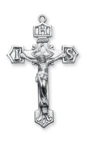 Men's Decorative Sterling Silver IHS Crucifix