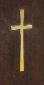 "Small Brass Cross 6""W x 16"" H. Can be added to any of of the lecterns or pulpits"