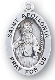 Saint Apollonia Medal - Patron Saint of Dentists