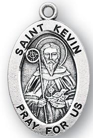 Saint Kevin Medal - Patron Saint of Blackbirds and Dublin Ireland