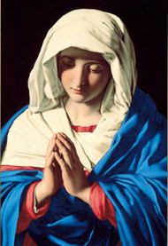 The Virgin In Prayer Healing Mass Card