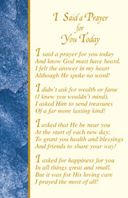 I Said a Prayer for You Today Holy Cards, Box of 100