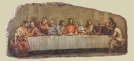 "18.5"" Last Supper Stone Resin Plaque"