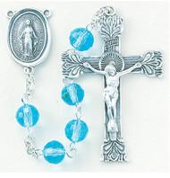 Aqua Multi Faceted Rosary