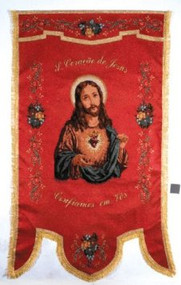 Sacred Heart of Jesus Processional Banner