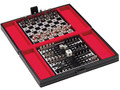 Leather Travel Chess and Backgammon Set