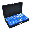 Domino Double Six Blue in Velvet Case