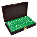 Domino Double Six Green in Velvet Case