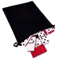 Domino Double Six Red & White in Velvet Bag