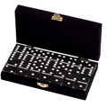 Domino Double Six Black in Velvet Case