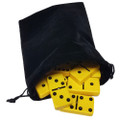Domino Double Six Yellow in Velvet Bag