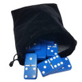 Domino Double Six Blue in Velvet Bag