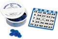 Bingo card shown in blue.  Bingo chips not included.  Please use item# 1136 when ordering bingo chips.