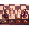 Chess Set Ambassador European Hand Carved 4 1/2 inch King
