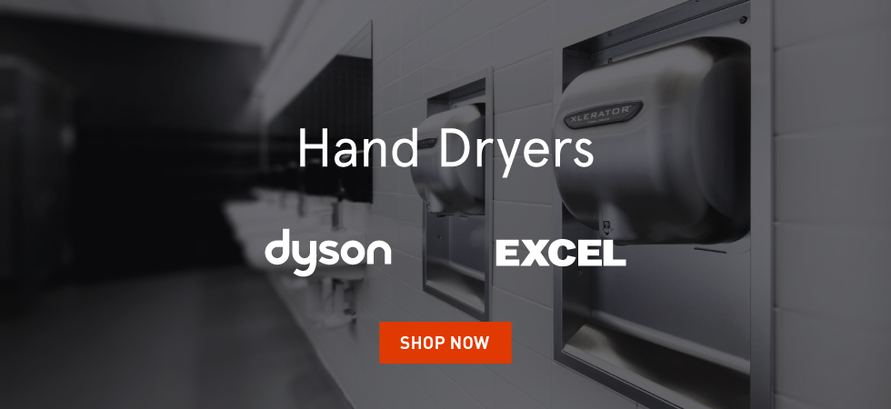 Shop Excel's new ThinAir and XLERATOR Hand Dryers plus Dyson Airblade V and Airblade dB.