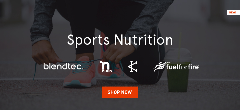 Shop Sports Nutrition Products from Blendtec, Nuun, Caffeine and Kilos, and Fuel for Fire.