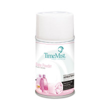 TimeMist Metered Fragrance Dispenser Aerosol Refill, Baby Powder Fragrance, 6.6 oz (12 refills/case) (TMS332512TMCAPT)