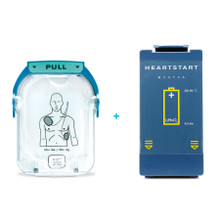 Philips HeartStart OnSite Replacement Battery + Adult Electrode Pads, (M5070A-M5071A)