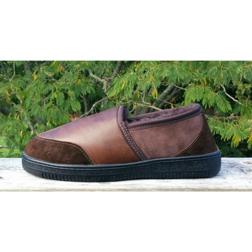 Rugged Bay - Brown Leather Kirby Slipper