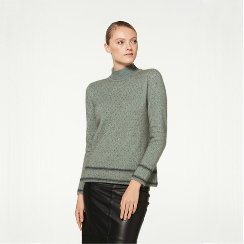 McDonald - Possum & Merino Two Tone Turtle Neck
