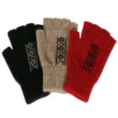 Lothlorian Merino - Possum Koru Fingerless Glove