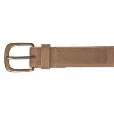Kiwi Country Koru Design Leather Belt